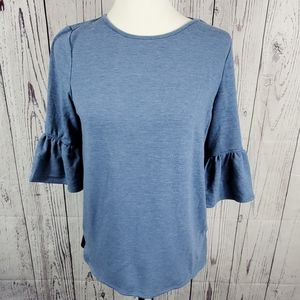 Adriana Papell Heather Chambray Bell Sleeve Shirt